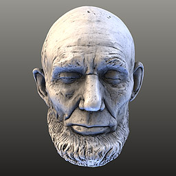 Image of Lincoln Life Mask (Mills) Laser Scan